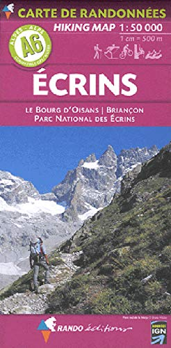 9782841822423: A6- Ecrins Hiking Map 1/50.000 Rando (French Edition)