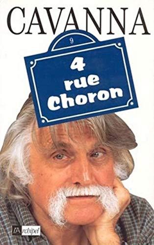 9782841870820: 4, rue Choron (French Edition)