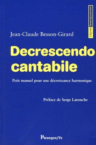 Decrescendo Cantabile (French Edition): Besson-Girard, Jean-Claude