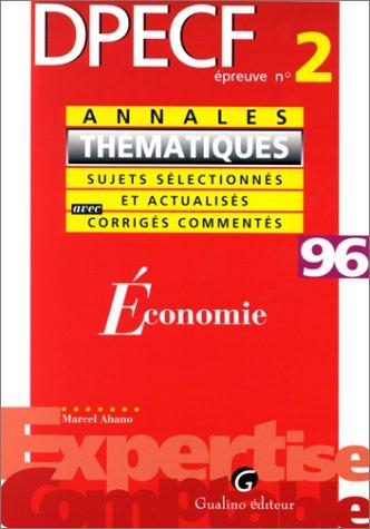 9782842000585: Economie : DPECF: épreuve no 2, 1996