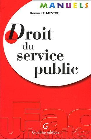 droit du service public: Renan Le Mestre