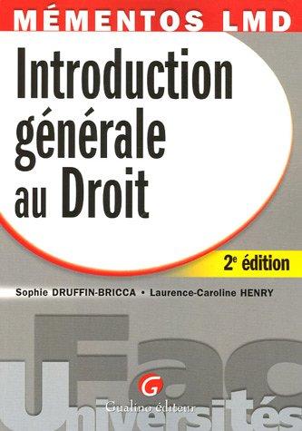 9782842008314: Introduction générale au Droit