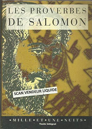 Les Proverbes de Salomon: Anonyme