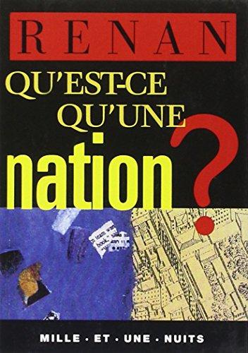 9782842051785: Qu'est-ce qu'une nation ?