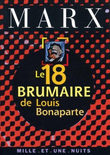 9782842051822: Le 18 Brumaire de Louis Bonaparte
