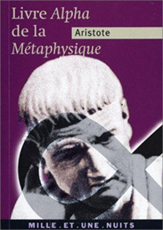 9782842056667: La M�taphysique (livre Alpha)