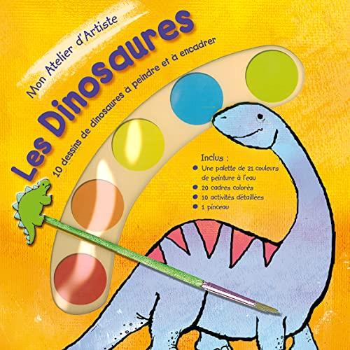 9782842182274: Mon Atelier d'Artiste Les Dinosaures : 10 dessins de dinosaures � peindre et � encadrer