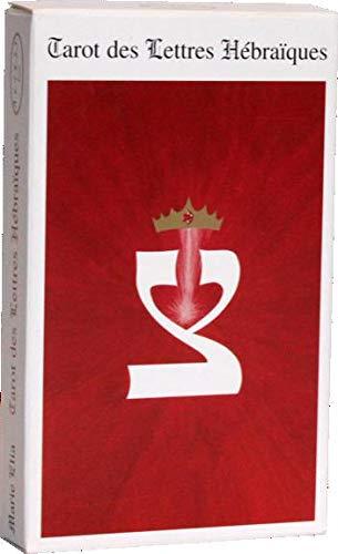 9782842430498: Tarot des lettres hébraiques, 28 cartes et livret 80 pages