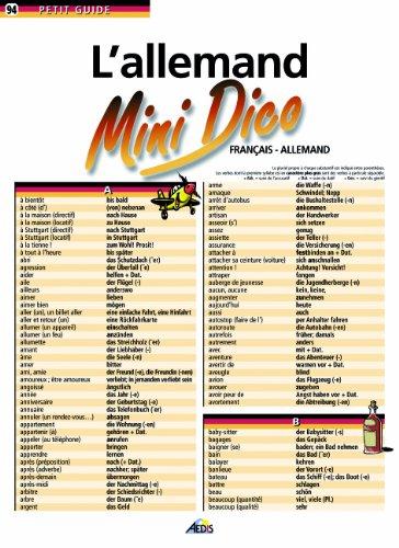 9782842591274: L'allemand : Mini dico français-allemand