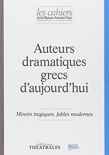 9782842606640: Auteurs Dramatiques Grecs d Aujourd'Hui
