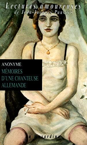 9782842710590: Mémoires d'une chanteuse allemande