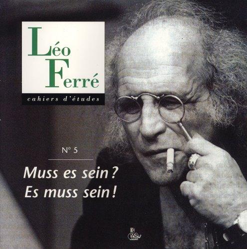9782842732707: Cahiers Léo Ferre N 5 (Muss Es Sein ? Es Muss Sein !)