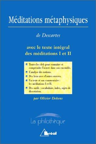 9782842915889: M�ditations m�taphysiques, Descartes