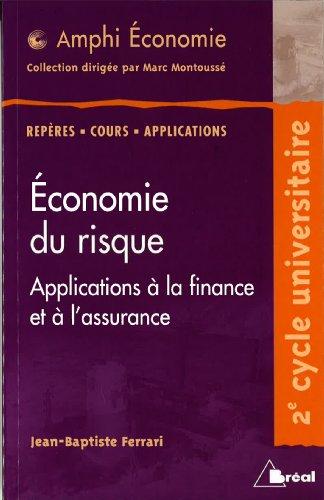 9782842919139: Economie du risque : Applications à la finance et à l'assurance (Amphi Economie)