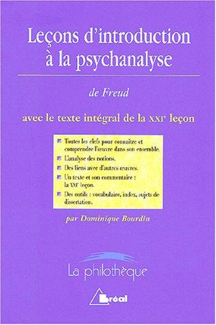 9782842919597: Leçons d'introduction à la psychanalyse de Freud avec le texte intégrale de la XXIe leçon