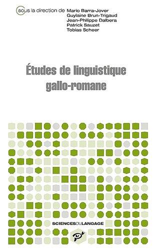 9782842923426: Études gallo romanes (Sciences du langage)