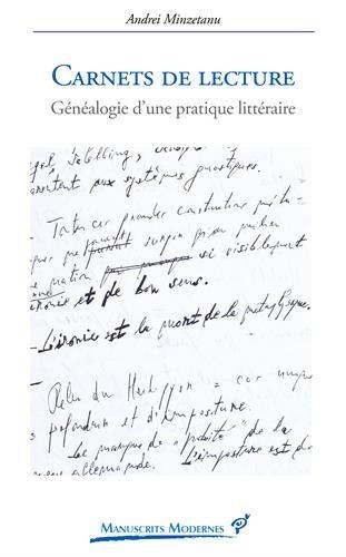 9782842925260: Carnets de lecture : Généalogie d'une pratique littéraire