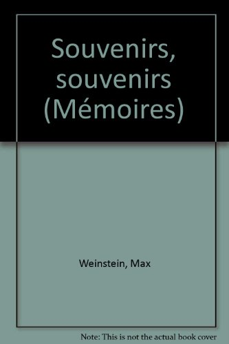9782842950064: Souvenirs, souvenirs (Mémoires)