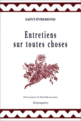 9782843210105: Entretiens sur toutes choses (Collection XVIIIe siècle) (French Edition)