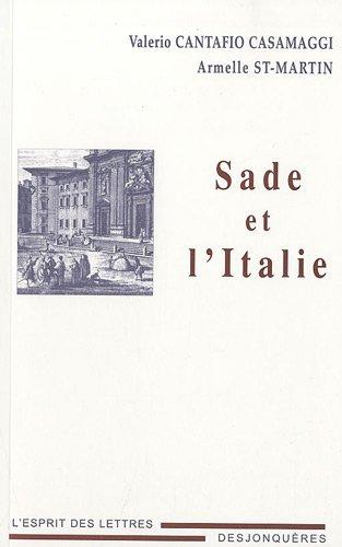 9782843211232: Sade et l'Italie