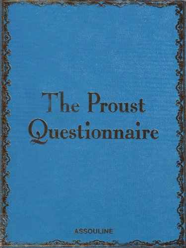 9782843237065: The Proust Questionnaire: Blue Cover