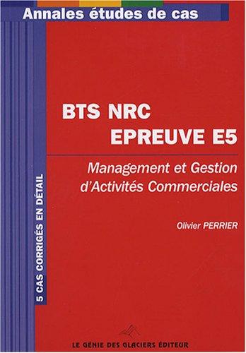 9782843475801: BTS NRC épreuve E5 (French Edition)
