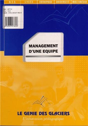 9782843478628: Management d'une équipe BTS Transport et prestations logistiques