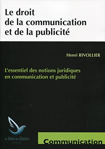 9782843479281: Le droit de la communication et de la publicité