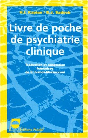 9782843600319: Livre de poche de psychiatrie clinique