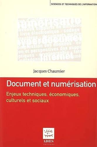 DOCUMENT ET NUMERISATION: CHAUMIER JACQUES