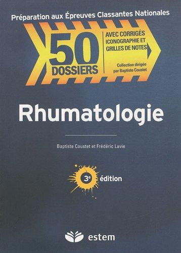 9782843713910: Rhumatologie 50 dossiers preparations internat