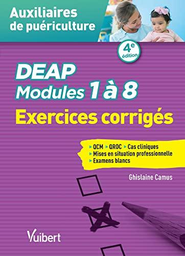 9782843719240: DEAP - Modules 1 à 8 - Exercices corrigés - QCM - QROC - Situations cliniques
