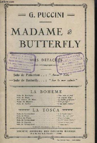9782843850431: Madame Butterfly