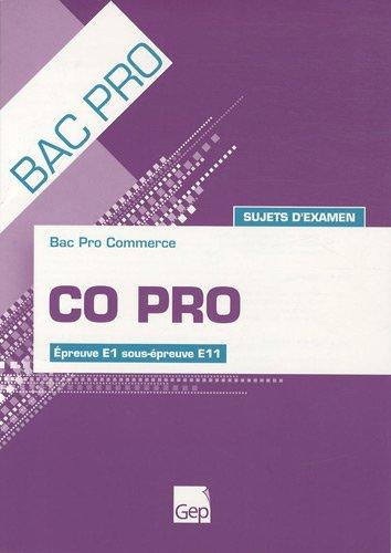 9782844257703: Bac pro commerce CO Pro : Sujets d'examen