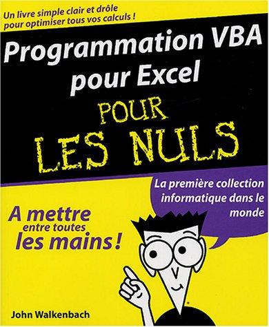 9782844276834: Programmation VBA pour Excel pour les nuls