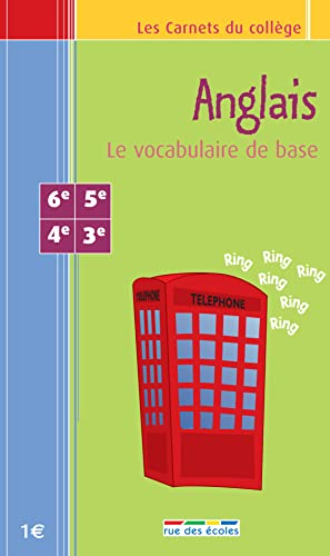 9782844312389: Anglais : Le vocabulaire de base 6e-5e-4e-3e