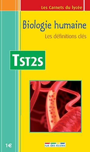 9782844316134: Biologie humaine Tle ST2S : Les définitions clés