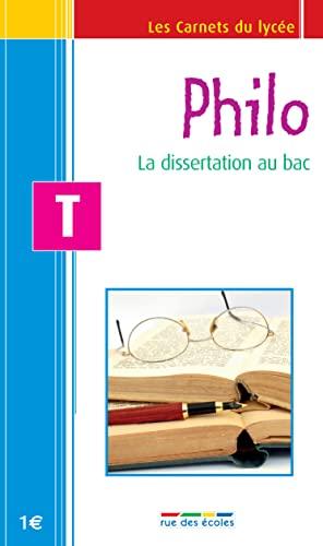 9782844316257: Philo Tle : La dissertation au bac