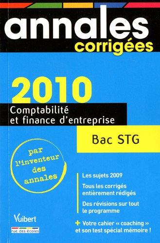 9782844316745: Comptabilité et finance d'entreprise Bac STG
