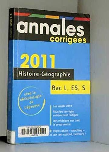 ANNALES CORRIGEES T.6; HISTOIRE/GEOGRAPHIE/EDUCATION CIVIQUE ; TERMINALES L/S/...