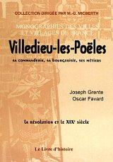 9782844350572: Villedieu-les-Poeles, Sa Commanderie, Sa Bourgeoisie, Ses Metiers (la Revolution et le Xixe S.)