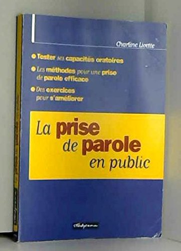 La prise de parole en public: Charline Licette