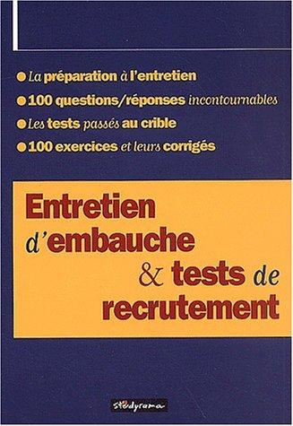 9782844721686: Entretien d'embauche