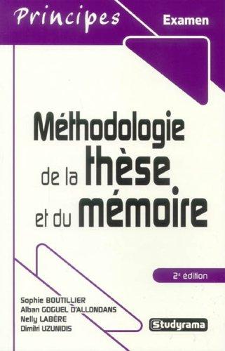 Méthodologie de la thèse et du mémoire: Nelly Labère, Sophie