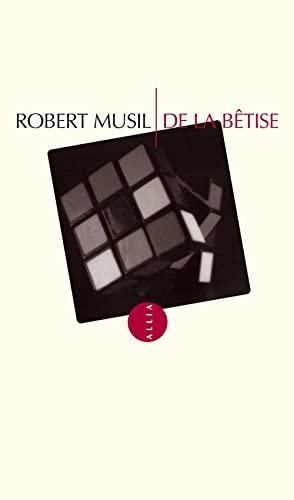 9782844850232: De la bêtise (Petite Collection)