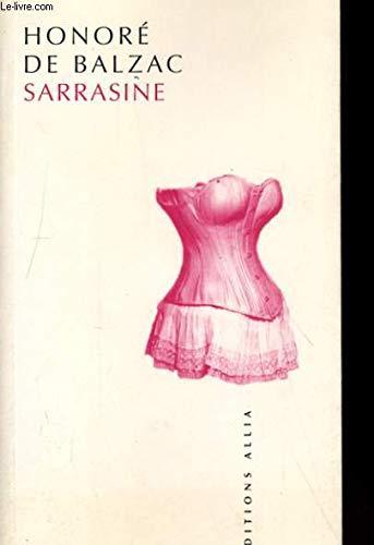 Sarrasine: Balzac, Honor� de