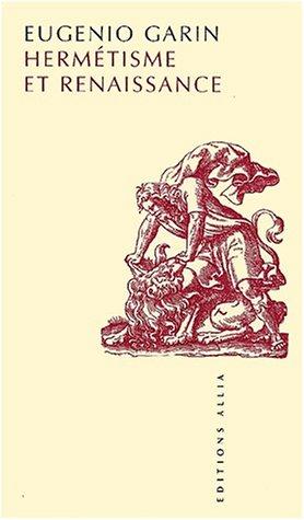 9782844850676: Hermétisme et Renaissance (Petite Collection)