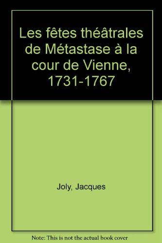9782845160194: fetes theatrales metastase cour vienne, 1731-1767.