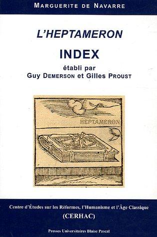 9782845162990: Index de l'Heptameron de Marguerite de Navarre (French Edition)