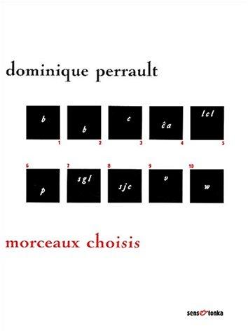 Morceaux choisis (9782845340701) by Dominique Perrault